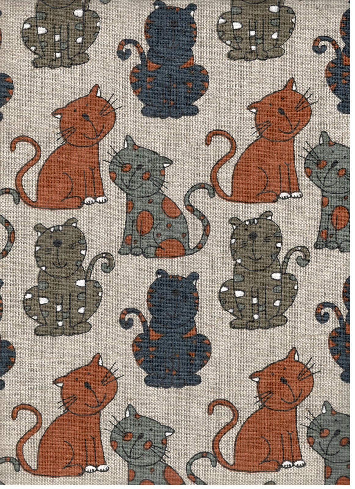 Fabric Animals Linen Cotton